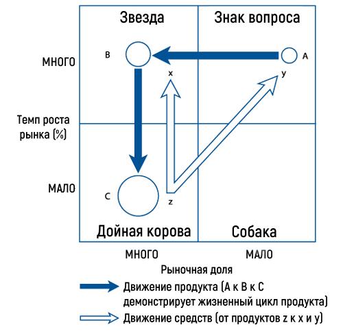 Идеальная прогрессия продуктов в матрице БКГ