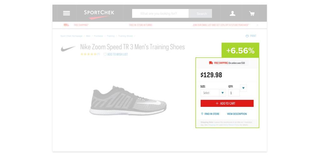 А/Б тест платформа электронной коммерции SportCheck
